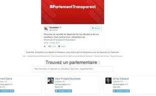 www.parlementtransparent.fr permet d'interpeller un parlementaire sur ses dépenses
