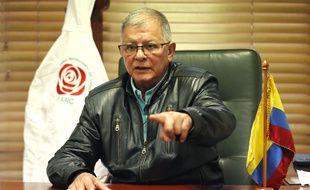 Un des anciens membres de la direction de la guérilla Farc, Rodrigo Granda, à Bogota le 19 novembre 2020.