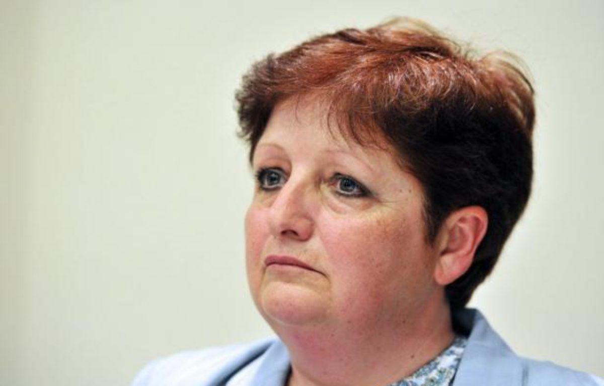 """Martine Furioli-Beaunier, candidate FN arrivée dimanche en 3ème position dans la circonscription de Carpentras-Nord, a décidé mardi de se retirer pour le second tour, afin de """"faire barrage à la gauche"""". – Boris Horvat AFP"""