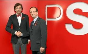 François Hollande hier à Bruxelles avec Elio Di Rupo, socialiste et nouveau chef du gouvernement belge.