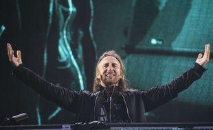 David Guetta en août 2016 lors d'un concert en Angleterre.