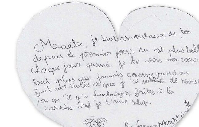 Illustration d'une lettre d'enfant.