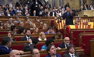 Le Parlement catalan a proclamé l'indépendance ce 27 octobre 2017.