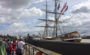 Le Morgenster à bord duquel s'est produit le drame est fermé à la visite.