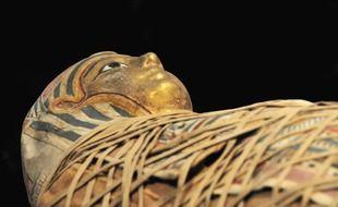 Un sarcophage (illustration).