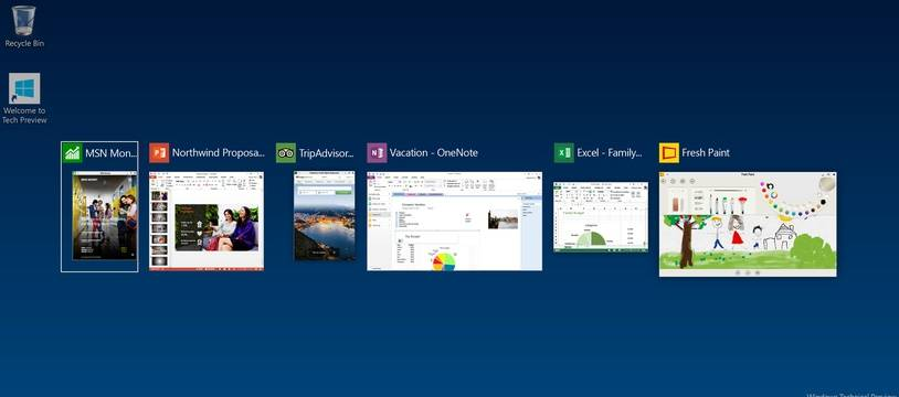 Le nouveau mode «multitasking» de Windows 10.