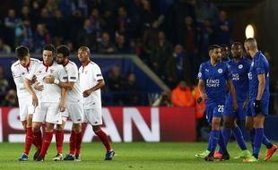 Samir Nasri en colère après s'être fait expulser lors de Leicester-FC Séville  en 8e de finale retour de Ligue des champions, le 14 mars 2017.