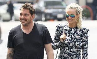 Sébastien Farran et Laeticia Hallyday à Studio City (Californie) en mai 2019.
