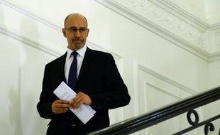 Harlem Désir, nouveau secrétaire d'Etat aux Affaires européennes, le 30 mars 2014 à Paris