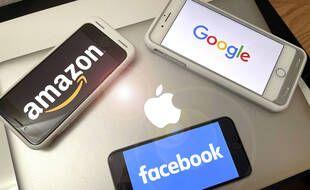 Une illustration des Gafa : Amazon, Apple, Facebook et Google.