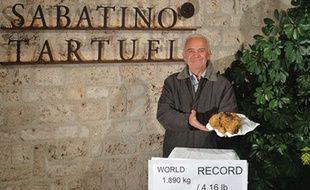 Capture d'écran du site Internet Sabatino Truffle, qui présente la plus grosse truffe blanche jamais découverte, le 3 décembre 2014.