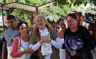 La mère de l'une des victimes du crash à La Havane, le 19 mai 2018.