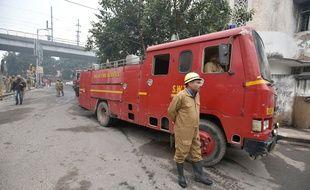 Un camion de pompiers indiens (illustration).