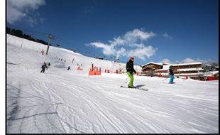 Piste de ski en Savoie (Illustration).
