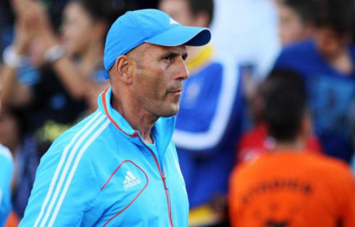 L'entraîneur de l'OM, Elie Baup, le 2 septembre 2012 à Marseille. – K.Villalonga / SIPA