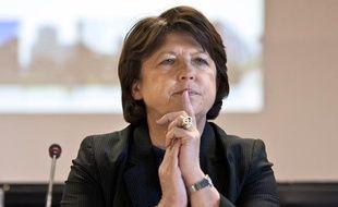 Martine Aubry lors d'une conférence de presse le 16 février 2011 à Clamart.