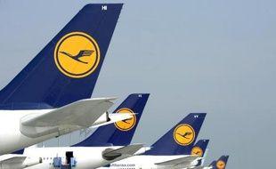 Des appareils de la compagnie allemande Lufthansa, le 10 septembre 2014 sur l'aéroport de Munich