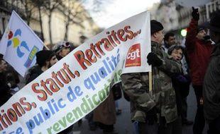 Manifestation de la fonction publique, Paris, le 21 janvier 2010.