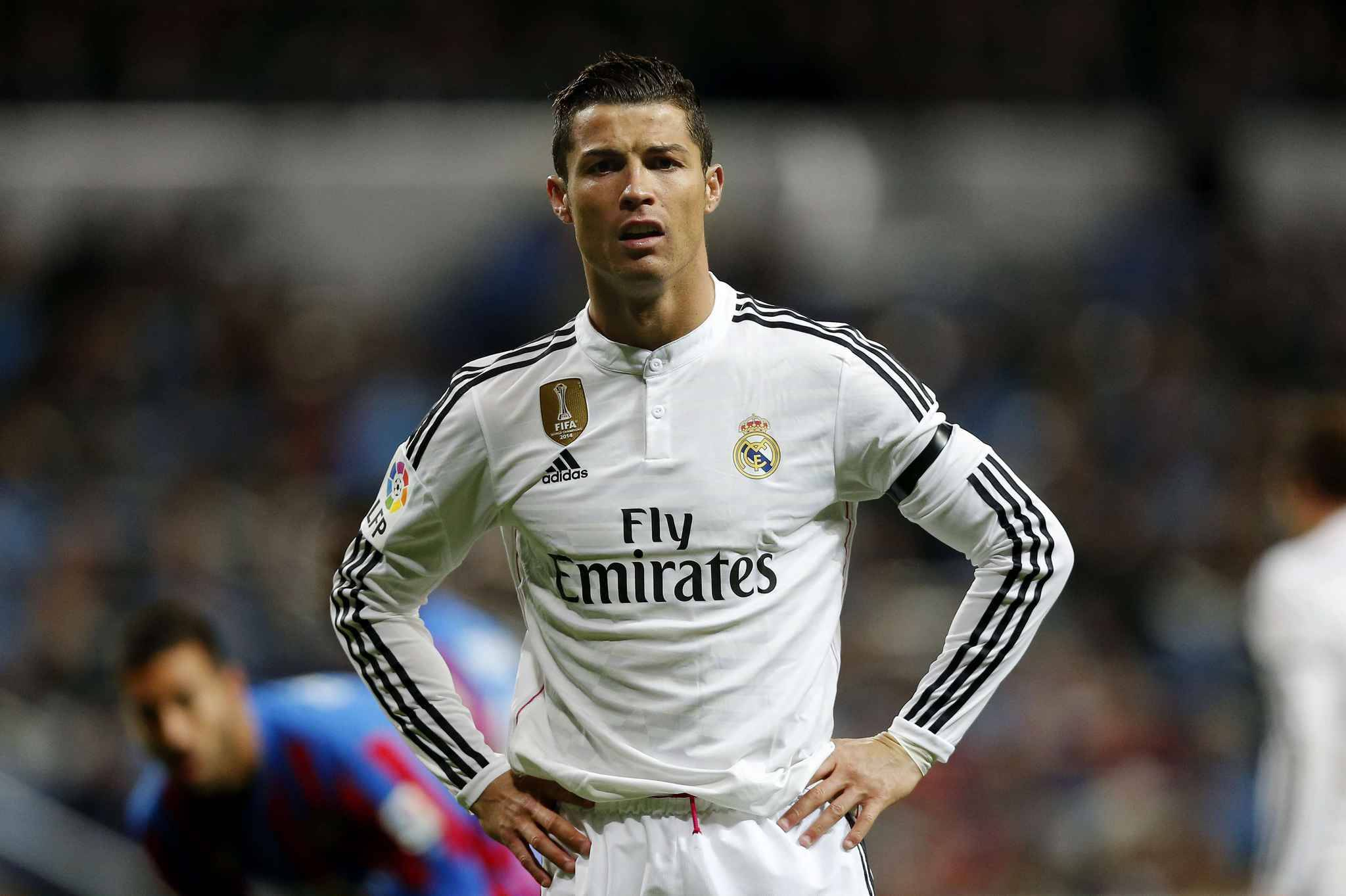 Real Madrid's Cristiano Ronaldo from Portugal reacts during a La Liga ...