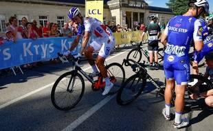 Jacopo Guarnieri à l'arrivée de la 4e étape du Tour 2017.
