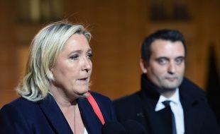 Marine Le Pen et Florian Philippot en 2015