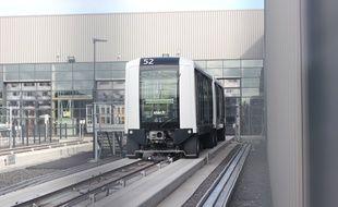 Les nouvelles rames du CityVal conçu par Siemens, qui équipera la ligne B du métro de Rennes.