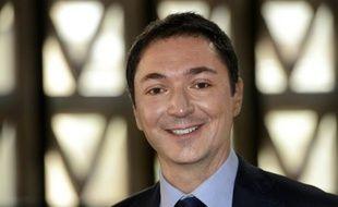 Philippe Verdier, chef du service météo de France Télévisions à Paris, le 21 mars 2013