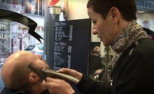 Capture d'écran de notre test du barbier avec Sarah, la barbière de Paris.