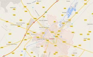 La ville de Cambrai, dans le département du Nord.
