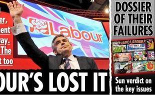 Le Premier ministre britannique, Gordon Brown lâché par The Sun