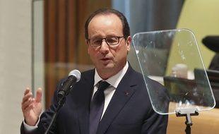 François Hollande au siège de l'ONU le 23 septembre 2014.