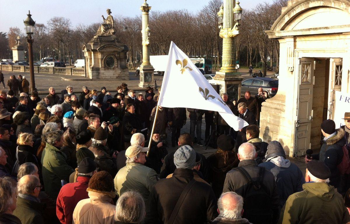 Hommage de royalistes à Louis XVI, à Paris, le 21/01/2016. – TLG/20Minutes