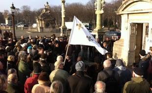 Hommage de royalistes à Louis XVI, à Paris, le 21/01/2016.