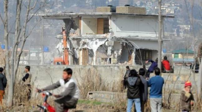 La d molition de la derni re maison de ben laden continue sans interruption - Jeux de demolition de maison ...