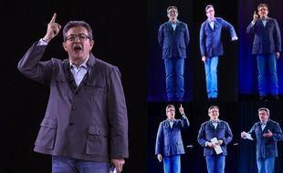 Grâce aux hologrammes, Jean-Luc Mélenchon a donné simultanément un meeting dans sept villes différentes le mardi 18 avril.