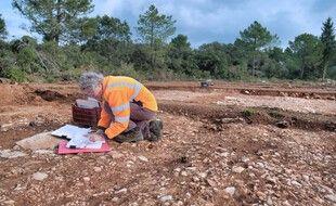 Le tronçon de la Voie Domitienne a été retrouvé à Loupian, dans l'Hérault