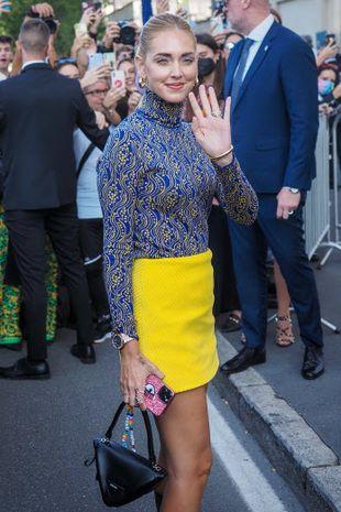 Chiara Ferragni à la Milan Fashion Week.