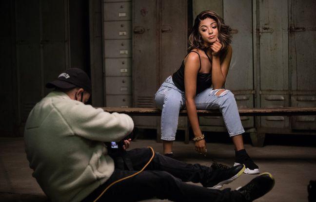 Wejdene et le photographe Koria lors du shoting photos SheIn.