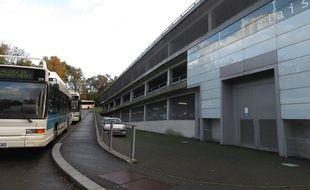 A Bordeaux, le 18 novembre 2014, le parc relais de la ButtiniËre, ‡ Lormont.