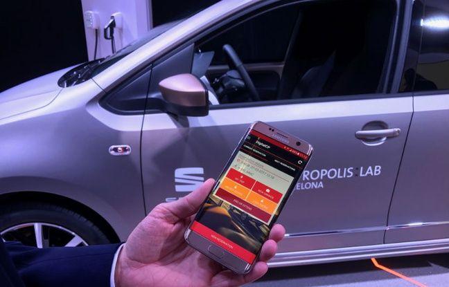 La solution d'auto partage de Seat, sur le Mobile World Congress 2017.