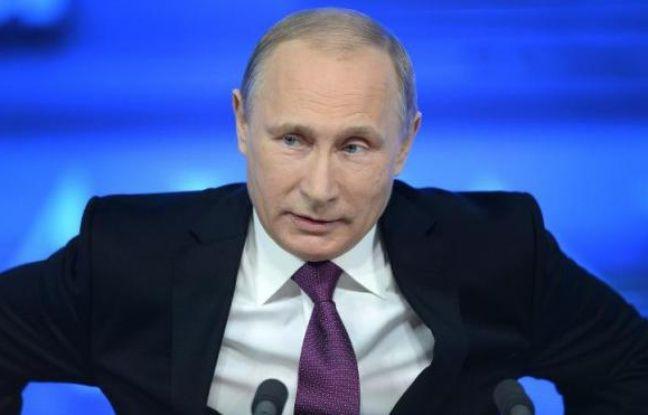 Poutine donne une conférence de presse à moscou, le 18 décembre
