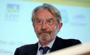 Frédéric Thiriez à une réunion du Medef à Paris, le 24 septembre 2014