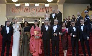 Le jury du Festival de Cannes 2013, présidé par Steven Spielberg.