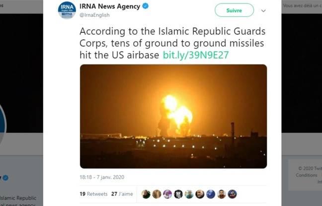 Cette photo ne montre pas les attaques iraniennes du 8 janvier.