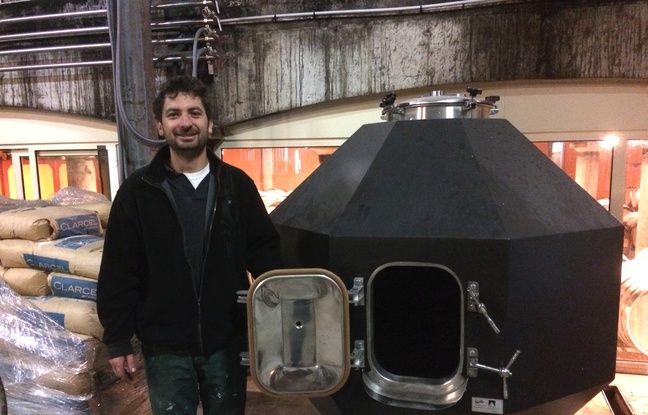 Julien Bonneau, à la tête du Château Haut Grelot va expérimenter une cuve en forme de diamant.