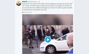 Le rappeur MHD a publié la vidéo d'une interpellation violente en plein Paris.