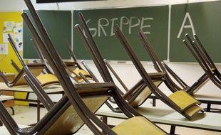 En France, une école peut fermer ses portes à partir de trois cas de grippe A (H1N1).