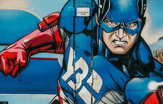 Fresque de super-héros à la sauce Street Art