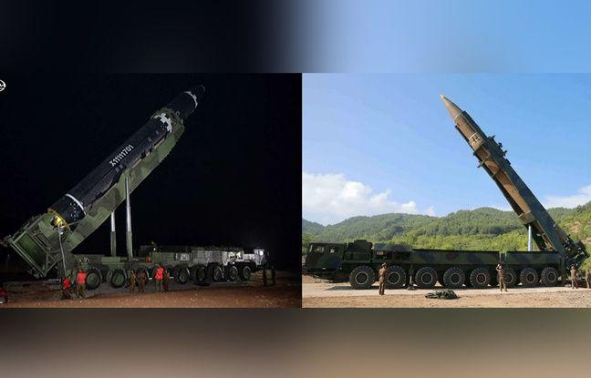 Un missile Hwasong-15 (gauche) face à un Hwasong-14 (photomontage «20 Minutes».