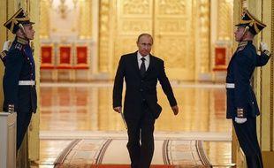 Le président russe Vladimir Poutine le 17 mars 2015 à Moscou, en Russie.